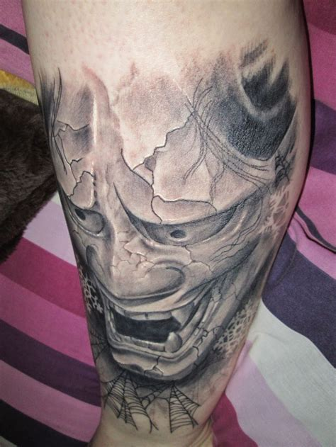 hannya mask knee tattoo 1000 images about japanese tattoos on pinterest