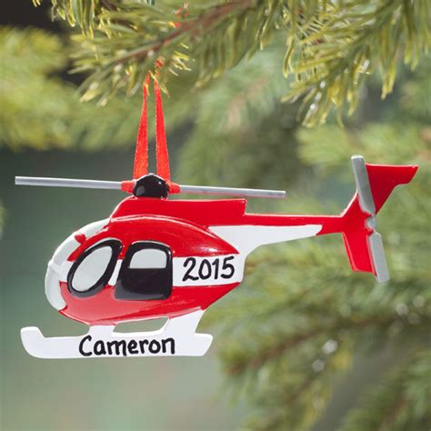 helicopter christmas ornament personalized helicopter ornament decoration kimball