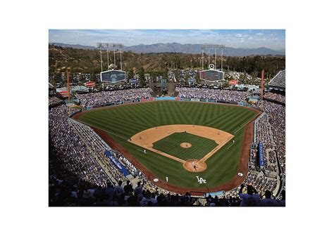 los angeles dodgers stadium mural wall decal shop fathead  los angeles dodgers decor