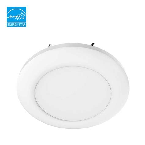 6 led disk light commercial electric 5 in and 6 in white recessed led