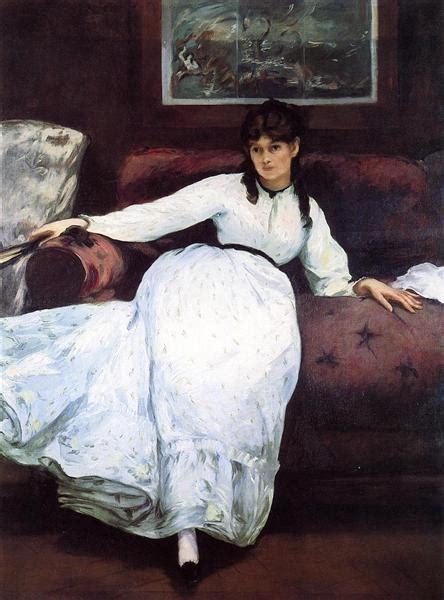 rest portrait  berthe morisot  edouard manet
