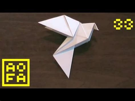 how to make an origami dove for easter peace day by
