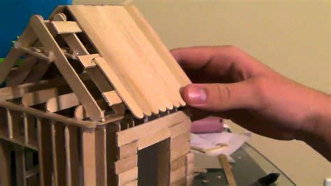 how to build a popsicle stick house 5 6 how to build a popsicle stick house roofing part 2