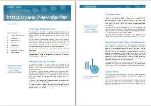 Employee Newsletter Templates by Ms Word Employee Newsletter Template Formal Word Templates
