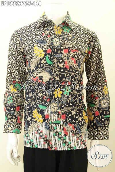 Kemeja Batik Pria Terbaru Lengan Panjang Mewah Elegan batik hem halus lengan panjang klasik kemeja batik
