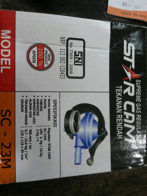 Regulator Gas Tekanan Rendah Starcam Sc 23m jual regulator gas starcam tekanan rendah sni garansi 2