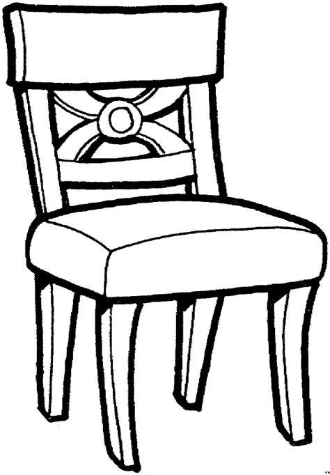 stuhl clipart gepolsteter stuhl ausmalbild malvorlage objekte