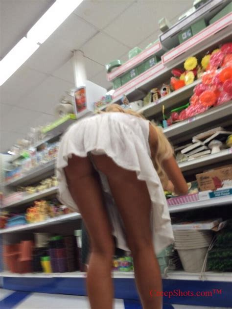 Downblouse In Grocery Store