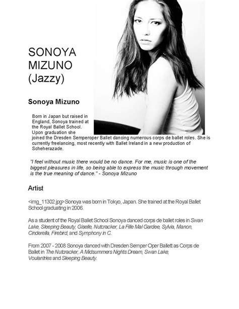 jazzy b height biography dancer sonoya mizuno is such a beautiful young lady read