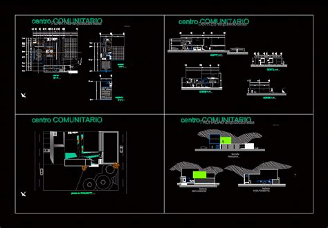 community center dwg full project  autocad designs cad