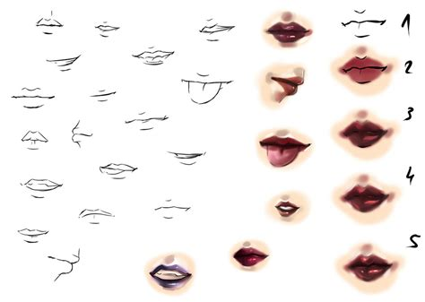 watercolor mouth tutorial mouth tutorial by ryky on deviantart