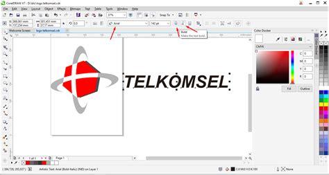 tutorial logo telkomsel dengan coreldraw tutorial membuat logo telkomsel dengan coreldraw am blog