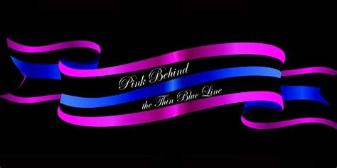 enforcement blue line pink the thin blue line supporting local