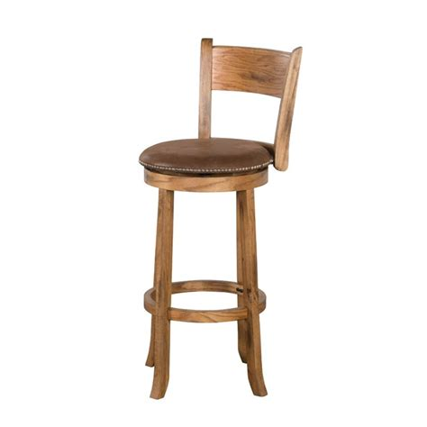 design bar stools sunny designs sedona 24 quot swivel counter stool in rustic