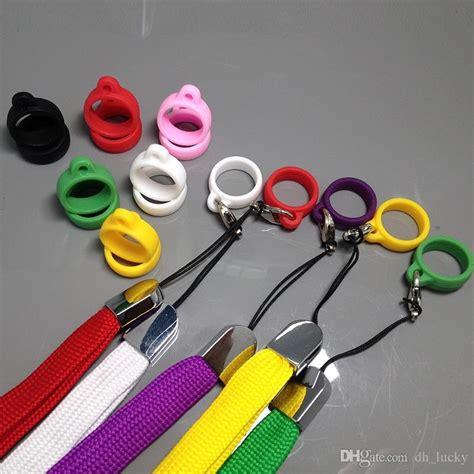 Silicon Ring Stand Hp vaporizer pen lanyard holder neck colorful e cig lanyard ring silicone lanyard ring vaporizer