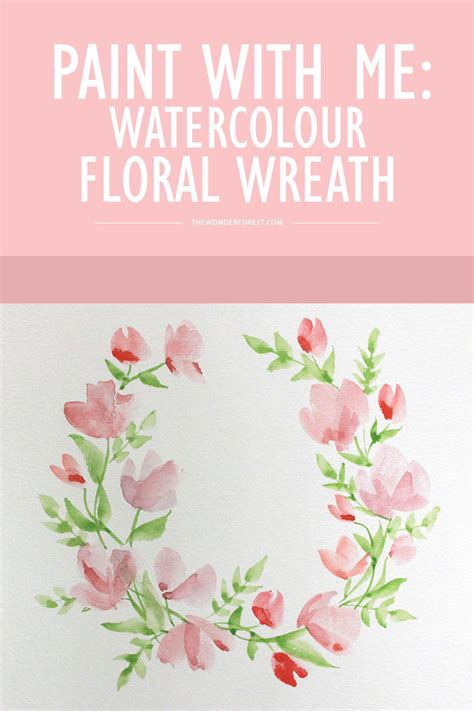 watercolor tutorial easy paint with me watercolour floral wreath tutorial for