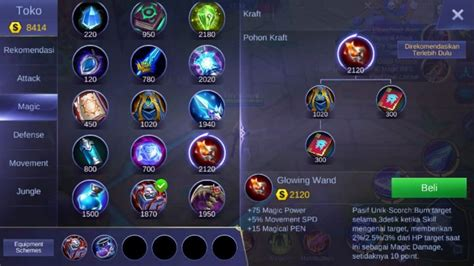 mobile legends items build zhask mobile legends cara menggunakannya