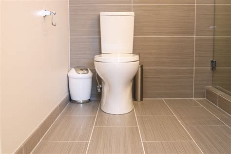 Powder Bathroom Ideas by Gray Tile Bathroom Toilet Modern Bathroom Richmond