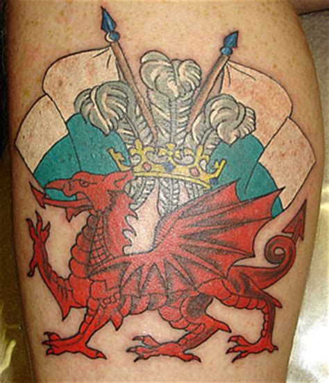 welsh tattoos flag tattoos