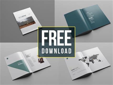38 Pages Free Company Profile Template By Wassim Dribbble Dribbble Company Profile Template Free