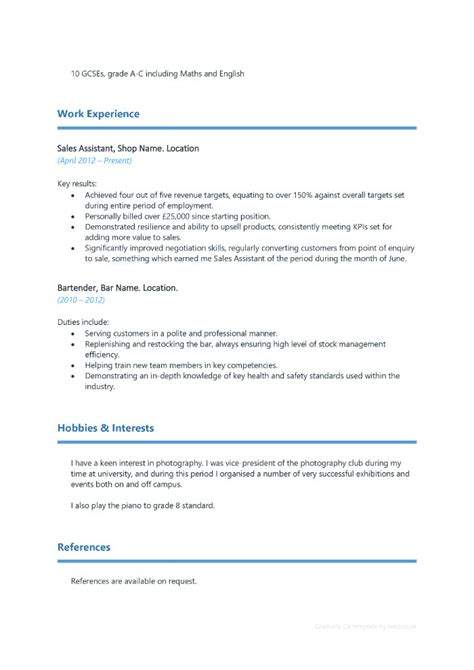 cv template reed graduate cv template reed choice image certificate