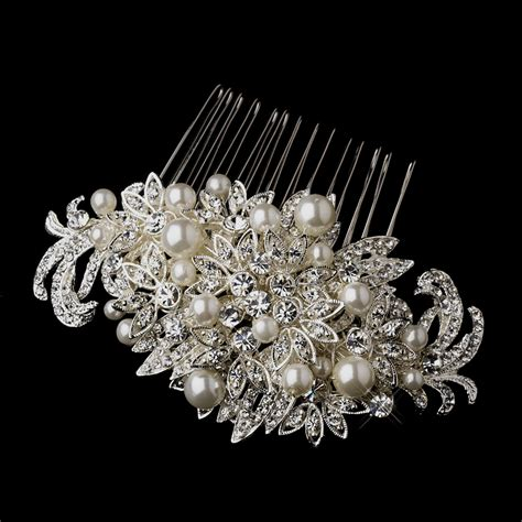 pearl and crystal hair comb fabulous crystal pearl bridal comb elegant bridal hair