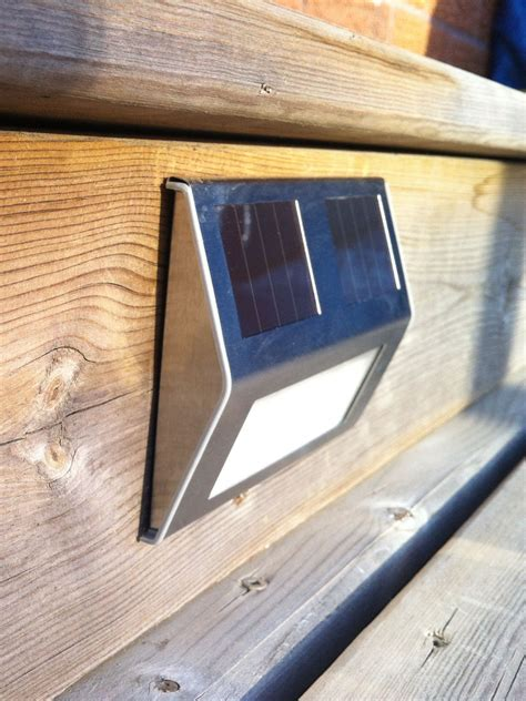 solar powered step lights solar powered lights illuminate steps or deck pinteres