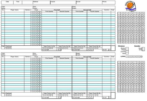 basketball scoresheet template 8 free sle basketball score sheet sles printable