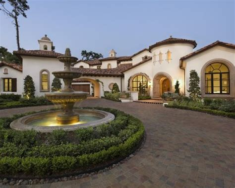 mediterranean home spanish driveway ideas pictures remodel and decor