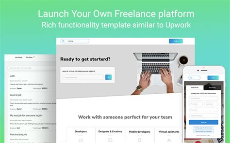 Upwork Clone New Template From Zeroqode Templates Zeroqode Forum Upwork Templates