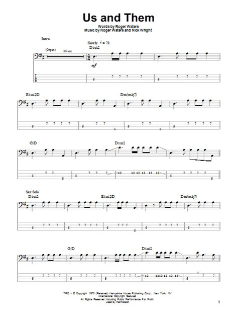 comfortably numb drum tab us and them sheet music direct