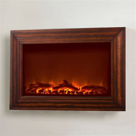 sense wall mount electric fireplace with wood facing