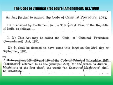 section 107 of crpc powers and duties of executive magistrates