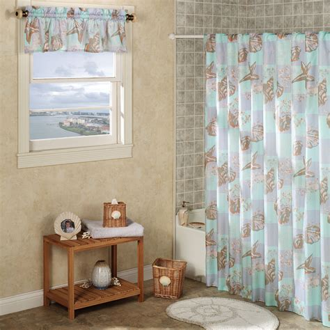 seashells shower curtain coffee tables seashell shower curtain bathroom set