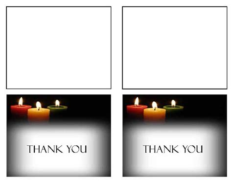 Microsoft Word Thank You Card Template Mac by Funeral Template Funeral Thank You Card Glowing Memories