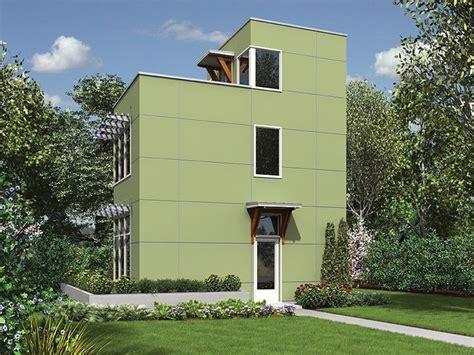eplans contemporary modern house plan three level
