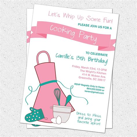 printable birthday invitations michaels 17 best images about chef theme ideas on pinterest cook