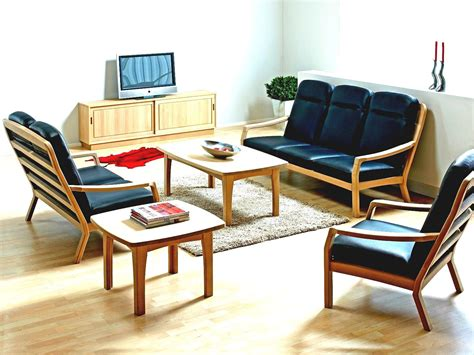Living Room Wooden Chairs - wood sofa set designs for small living room www