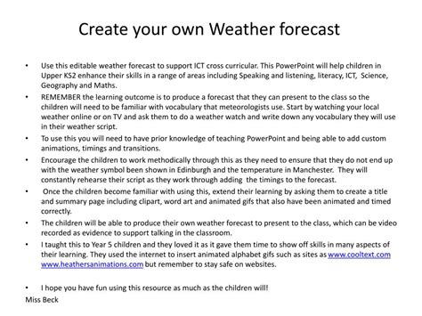 design your own l ppt create your own weather forecast powerpoint