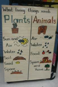 All Living Things Small Animal Home Bar Spacing Plants And Animals Needs Anchor Chart Science