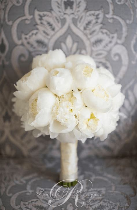 White Wedding Bouquet Flowers by White Peony Flower Bouquet Www Pixshark Images