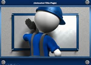 Powerpoint Presentation Templates With Animation by Construction Powerpoint Template With Handyman Animation