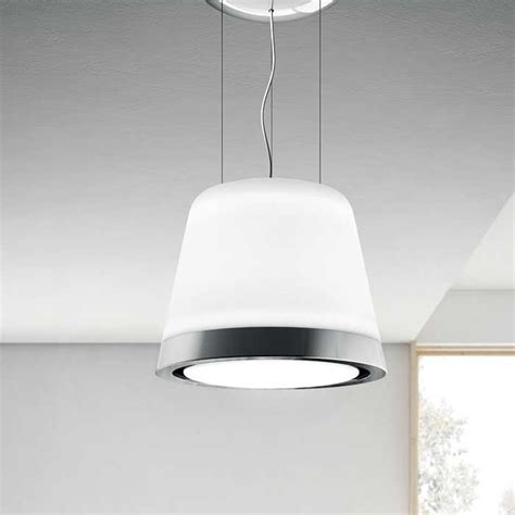 Chandelier Extractor Fan Summilux Is The New Elica Chandelier In White Glass With A Frosted Glass Finish The