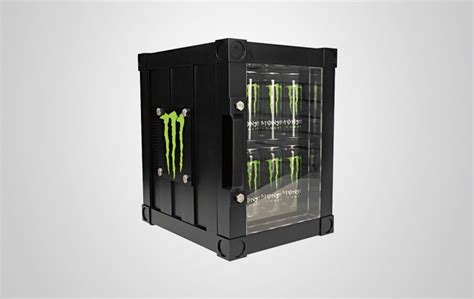 monster energy mini fridge g1 with led door light monster fridge with illuminated etched glass sign procool