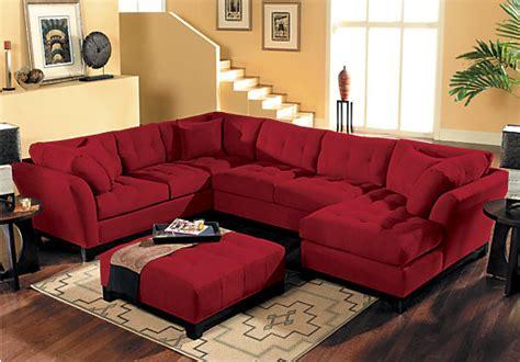 cindy crawford home decor cindy crawford metropolis cardinal 4pc sectional living