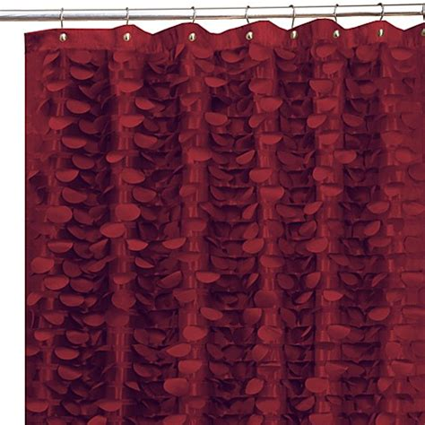 maroon curtains gigi burgundy 72 inch x 72 inch fabric shower curtain