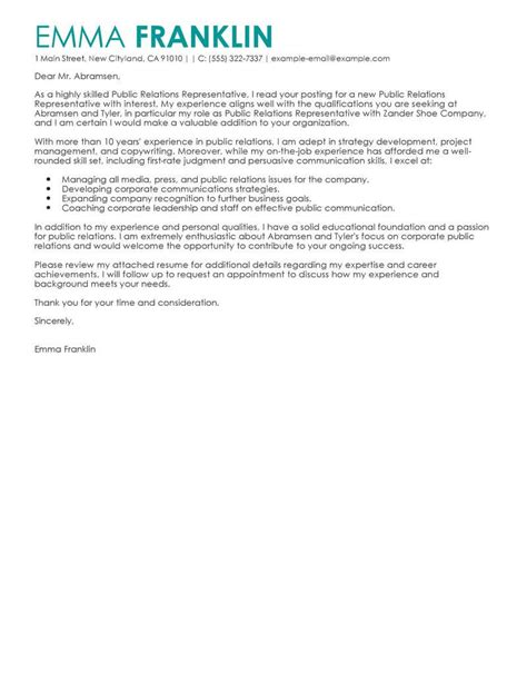 best business cover letter exles livecareer
