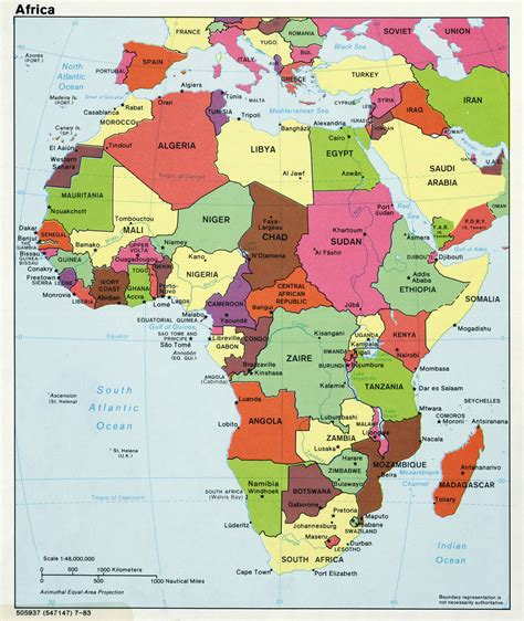 major map maps of africa and countries political maps