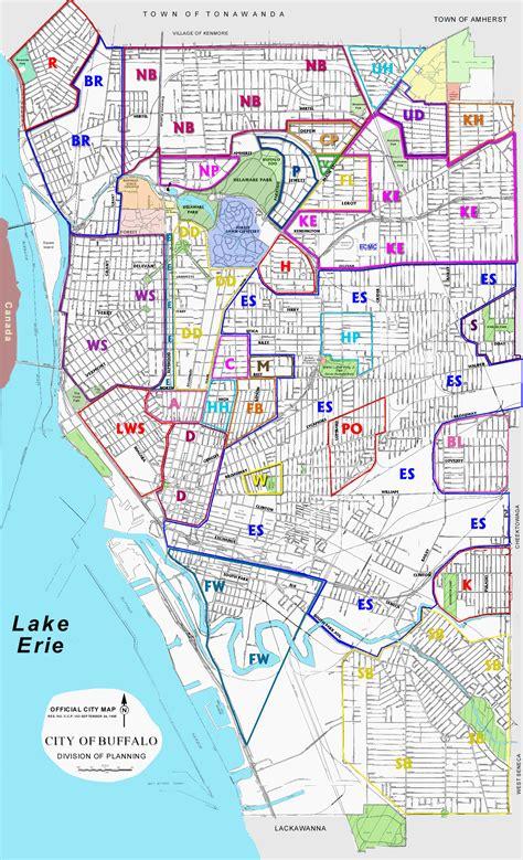 buffalo map city neighborhoods buffalo amherst tonawanda fit in houses new york ny