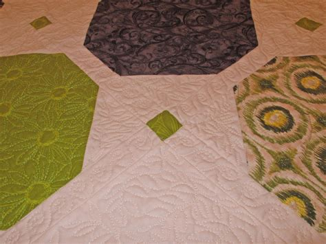 grammys quilt green  gray modern  potting shed